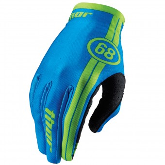 Guantes motocross Thor Void Course Blue Niño