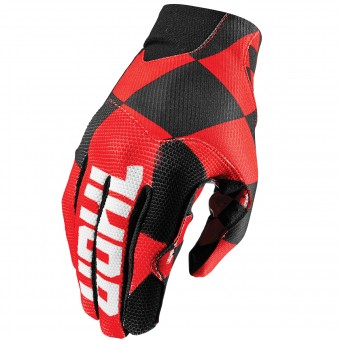 Guantes motocross Thor Void Plus Chex Red