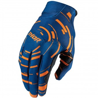 Guantes motocross Thor Void Plus Circulus Flo Orange Niño