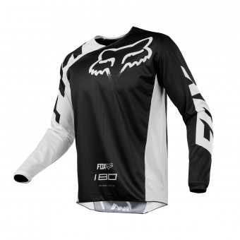 Camiseta Motocross FOX 180 Race Black White 001