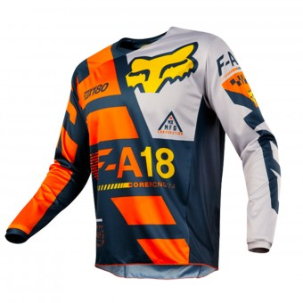 Camiseta Motocross FOX 180 Sayak Orange 008