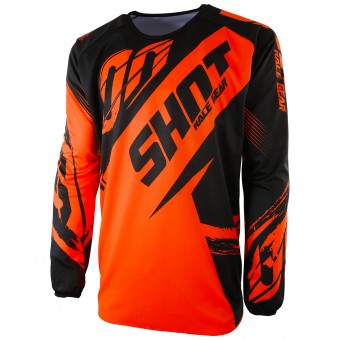 Camiseta Motocross SHOT Devo Fast Neon Orange Niño