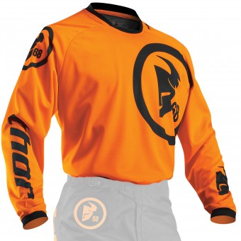 Camiseta Motocross Thor Phase Gasket Flo Orange Black