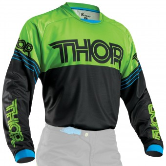Camiseta Motocross Thor Phase Hyperion Black Green