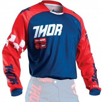Camiseta Motocross Thor Phase Ramble Navy Red Niño