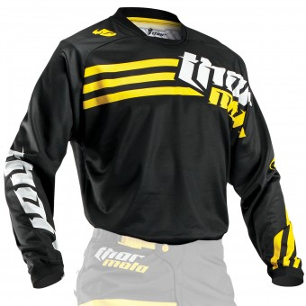 Camiseta Motocross Thor Phase Strands Black Yellow