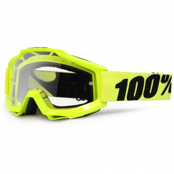 Gafas motocross 100% Accuri Fluo Yellow Clear Lens Niño