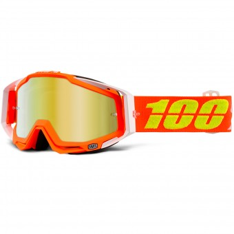Gafas motocross 100% Racrcraft Razmataz Mirror Gold