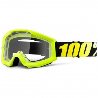 Gafas motocross 100% Strata Neon Yellow Clear Lens
