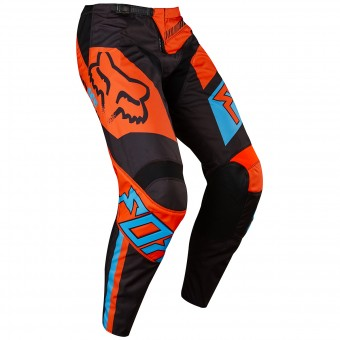 Pantalón motocross FOX 180 Falcon Black Orange Pant Niño 016