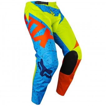 Pantalón motocross FOX 180 Nirv Yellow Blue Pant Niño 586