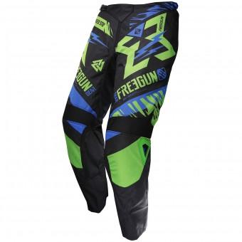 Pantalón motocross Freegun Devo Trooper Green Blue Pant Niño