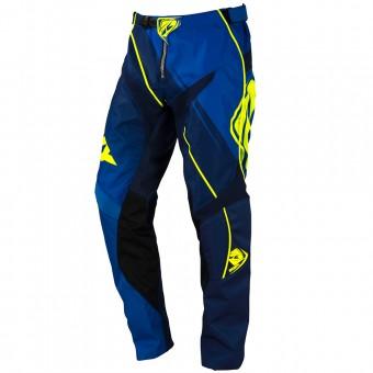 Pantalón motocross Kenny Track Blue Neon Yellow Pant Niño