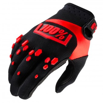 Guantes motocross 100% Airmatic Black Red