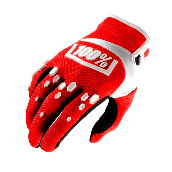 3dd811bc Guantes motocross 100% Airmatic Red White Envío Inmediato | iCasque.es