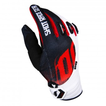 Guantes motocross SHOT Devo Venom Black Red Niño