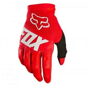 Guantes motocross FOX Dirtpaw Race Red White Niño 003