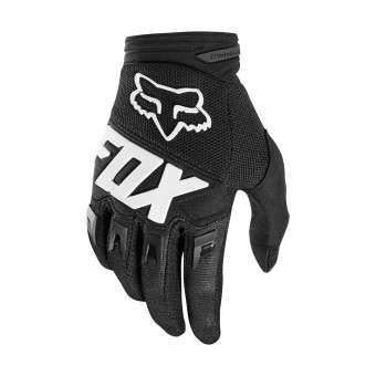 Guantes motocross FOX Dirtpaw Race Black White 001