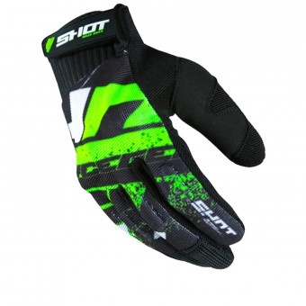 Guantes motocross SHOT Drift Neon Green CE