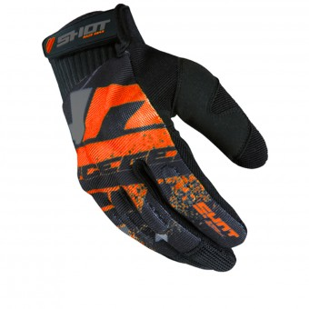 Guantes motocross SHOT Drift Neon Orange CE