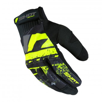 Guantes motocross SHOT Drift Neon Yellow CE