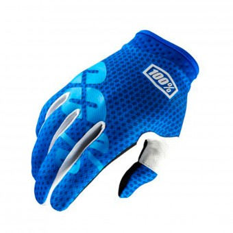 Guantes motocross 100% Itrack Blue Niño