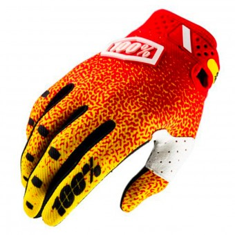 Guantes motocross 100% Ridefit Red Yellow