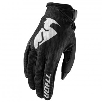 Guantes motocross Thor Sector Glove Black