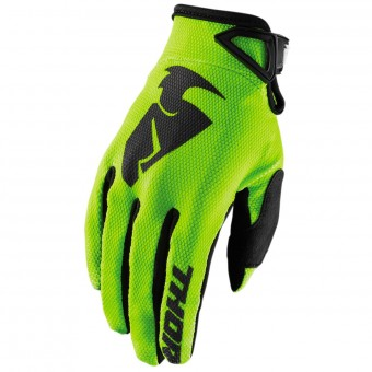 Guantes motocross Thor Sector Glove Lime Niño