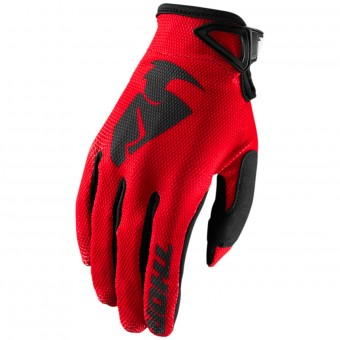 Guantes motocross Thor Sector Glove Red Niño