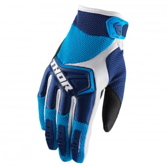 Guantes motocross Thor Spectrum Navy Blue White