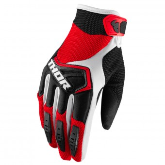 Guantes motocross Thor Spectrum Red Black White