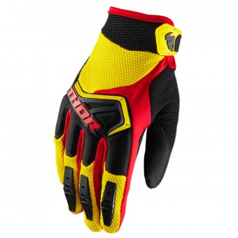 Guantes motocross Thor Spectrum Yellow Black Red