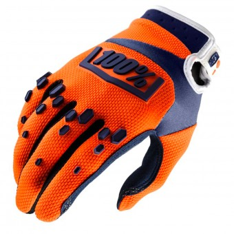 Guantes motocross 100% Airmatic Orange Navy