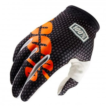 Guantes motocross 100% Itrack Charcoal