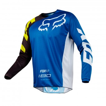 Camiseta Motocross FOX 180 Race Blue White 002