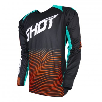Camiseta Motocross SHOT Aerolite Optica Mint Orange