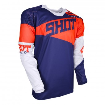 Camiseta Motocross SHOT Contact Infinite Blue Neon Orange