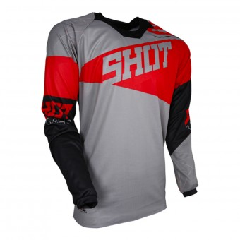 Camiseta Motocross SHOT Contact Infinite Grey Red