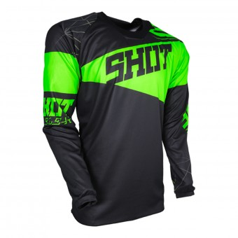 Camiseta Motocross SHOT Contact Infinite Neon Green