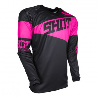 Camiseta Motocross SHOT Contact Infinite Neon Pink