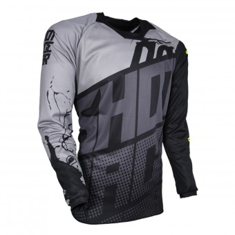 Camiseta Motocross SHOT Contact Venom Grey Black