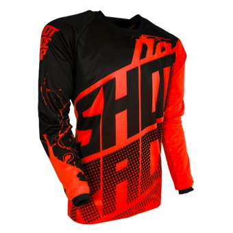 Camiseta Motocross SHOT Contact Venom Neon Orange