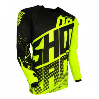 Camiseta Motocross SHOT Contact Venom Neon Yellow