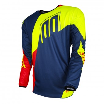 Camiseta Motocross SHOT Devo Alert Blue Red Neon Yellow
