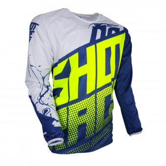 Camiseta Motocross SHOT Devo Venom Blue Neon Yellow Niño
