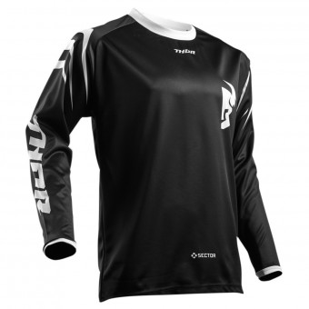 Camiseta Motocross Thor Sector Zones Black Niño