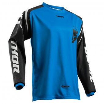Camiseta Motocross Thor Sector Zones Blue Niño