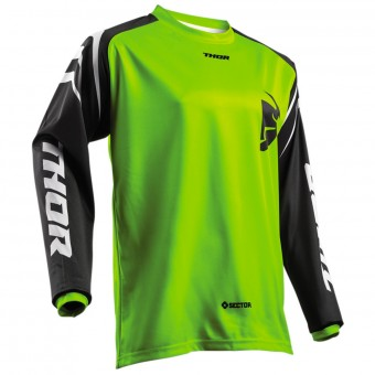 Camiseta Motocross Thor Sector Zones Lime Niño