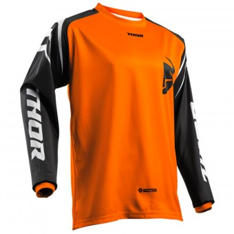 Camiseta Motocross Thor Sector Zones Orange Niño